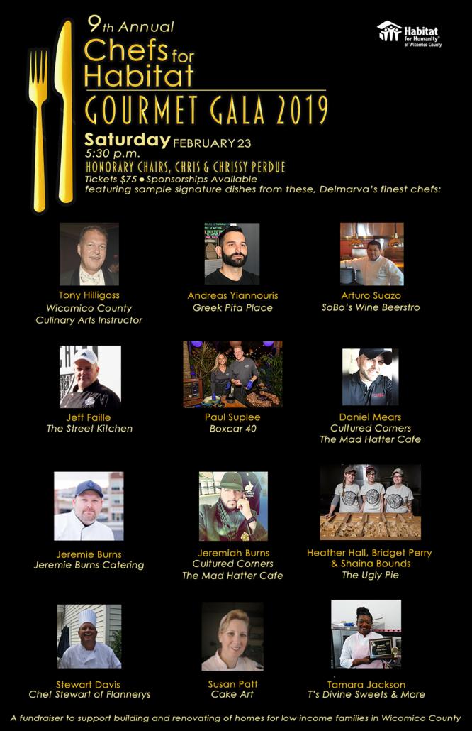 9th Annual Chefs for Habitat - Gourmet Gala 2019